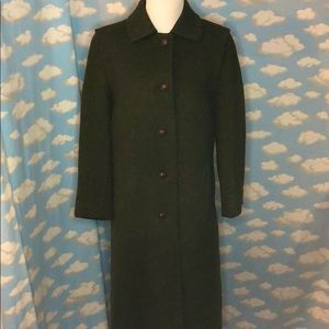 Burberry Original Loden Wool Coat Olive Green 6